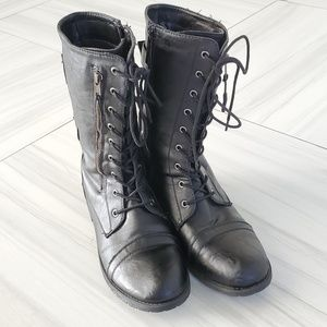 Women's Ankle Bootie Military Combat boot